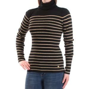 RALPH LAUREN Striped Turtle Neck Sweater